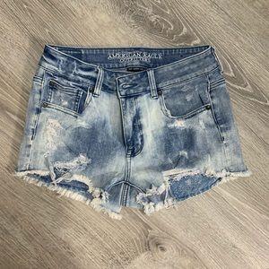 American Eagle jean shorts acid wash stretch